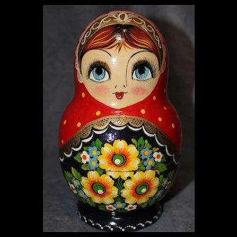 Signed Russian Nesting Dolls (7 Dolls)