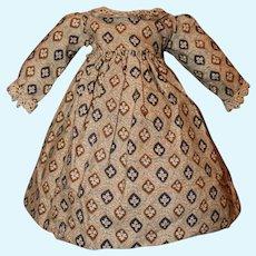 Early Civil War Era Doll Dress