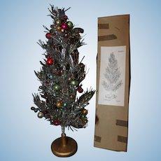 Doll Sized Aluminum Silver Christmas Tree