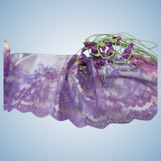 """Delectable Purple French Chantilly Lace""     Sold in four yard lengths!"