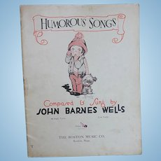 Charming Vintage Song Book for Doll Display