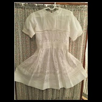 Beautiful White Eyelet Lace Dress