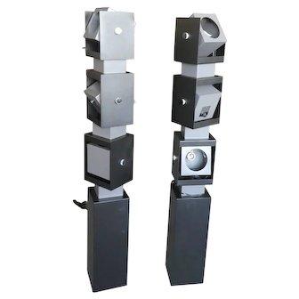 Irving Richards Arteluce Swivel Floor Lamps  -  A Pair