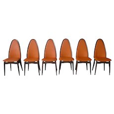 Mid Century Modern Stakmore Cathedral High Back Folding Chairs