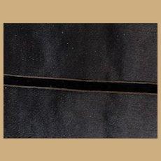 Antique narrow black velvet ribbon Ca 1865 dolls