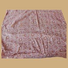 Antique paisley cotton roller print fabric dolls  women child