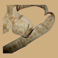 Antique silk chenille Civil War ribbon trim dolls women heirloom #2