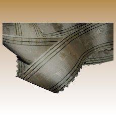 Antique Civil War era silk ribbon unused tiny picot edges pinks