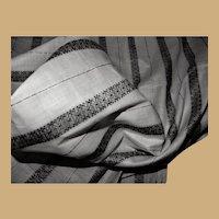 Antique unused cotton fabric 1850's Hurets enfantines women restoration