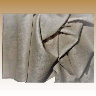 Antique credible Ca 1840 silk/ linen blend fabric pattern beyond belief women dolls doll house wallpaper