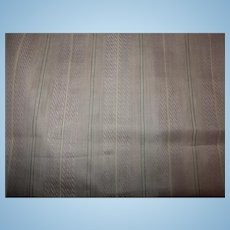 Antique 1830' cotton semi sheer striped lilac dolls fabric