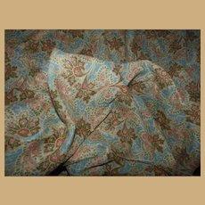 """Antique uniquely feminine pattern and colors pre 1860 cotton 22"""" selvages"""
