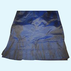 Antique tiny striped blue box pleats and tuck silk fabric and lining