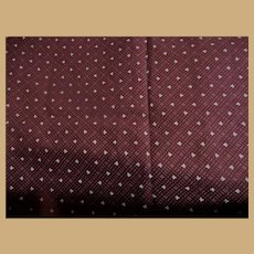Antique deep cranberry cotton fabric small pattern