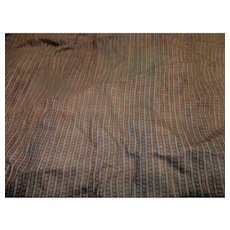 Antique teeny striped cotton fabric  worker farm doll #3 Ca 1850