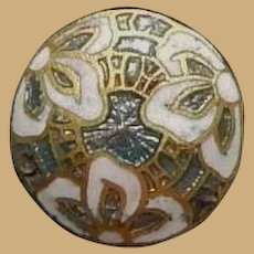 4 Antique most gorgeous enameled buttons women restoration
