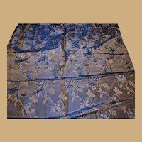 Antique Ca 1860 silk brocade highly iridescent fabric Enfantines Hurets Rohmer Barrois