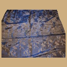 Antique Ca 1860 silk brocade highly iridescent fabric Enfantines Hurets Rohmer Barrois