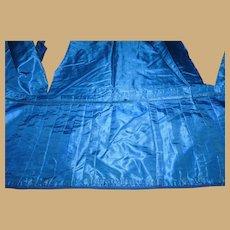 Antique blue taffeta silk fabric and knife pleats dolls