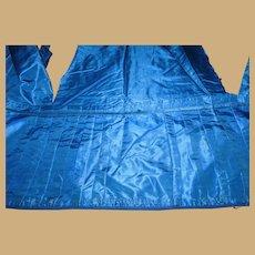 Antique blue silk taffeta fabric pleats and lining  dolls. #2