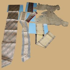 Box lot of mixed ribbons and net ruffled trim dolls restoration multi use