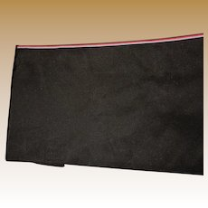 Antique rich black silk fabric FREE SHIPPING