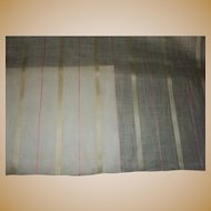 Antique Ca 1820 silk linen fabric unused breathtaking dolls