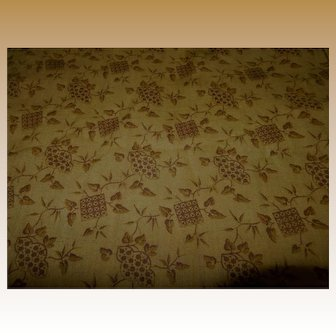 "Antique simple pattern cotton monochromatic toned 24"" selvages dolls women quilts"