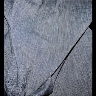 2 Yards  antique indigo chambray cotton fabric dolls chinas woodens enfantines