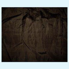 Antique tiny check Civil War era silk taffeta fabric Hurets Rohmers #1