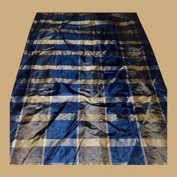 Antique Civil War silk taffeta plaid and lining dolls restoration