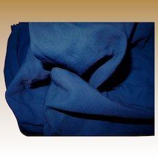 Antique silk wool blend Ca 1890 fabric and lining cobalt blue women
