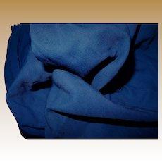 Antique silk wool blend Ca 1890 fabric and lining cobalt blue women #2