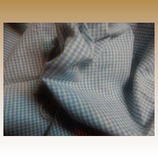Vintage softest tiny blue check flannel fabric