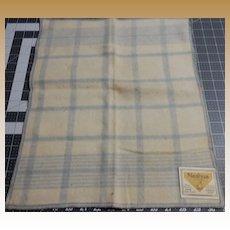 Vintage blanket flannel labeled doll plaid salesman's sample