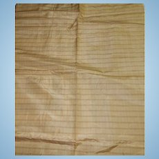 Antique small scale silk fabric Ca 1870 dolls