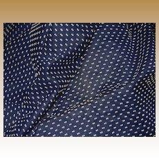 Vintage semi sheer navy Swiss blue polka dot thread dots dolls
