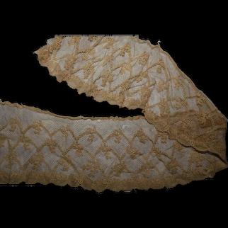 Antique feminine lace detail  pattern medium ecru #2