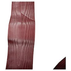 Vintage creamy deep pink moire ribbon
