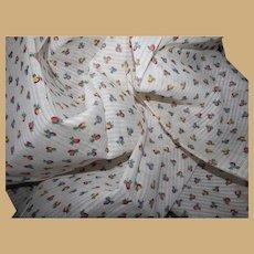 Vintage tiny flower buds unused dimity cotton fabric dolls child baby
