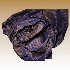 2 Antique Highly iridescent Ca 1850 silk fabric tiny stripes dolls restoration women Hurets Enfantines #2