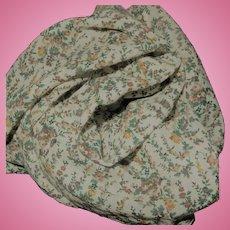 Antique woll voile challis flower sprigged fabric dolls restoration #1