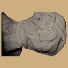 Antique gauzy lining cotton under dress  dolls women child