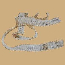 """Vintage cotton lace picot edge grid pattern 1/2"""" wide dolls women child restoration"""