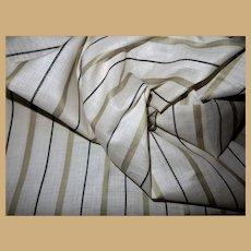 Antique Ca 1850 cotton unused fabric sheer dolls Enfantine