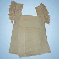 Antique hand made batiste and lace unusual doll clothing FREE SHIPPING