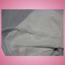 Vintage crisp white dimity fabric unwashed dolls #1  FREE SHIPPING