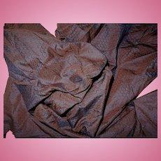Antique intense shimmer iridescent 1860's silk fabric #2