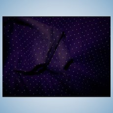 2 1/2 Yards vintage soft royal purple dotted flannel dolls fabric children women