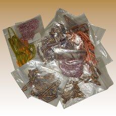 Vintage box lot of narrow ribbon rayon/silk French dolls FREE SHIPPING